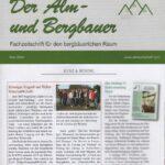 """""""Kurz & bündiger"""" Bericht in """"Der Alm- und Bergbauer"""""""